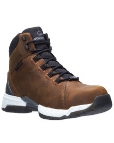 Wolverine Men's Brown I-90 Rush Work Boots - Soft Toe, Brown, hi-res