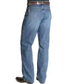 Cinch Men's White Label Relaxed Fit Stonewash Jeans, Stonewash, hi-res