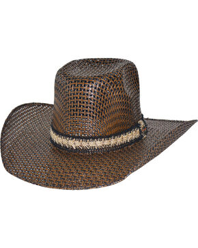 Bullhide Men's PBR Hero & Legend 50X Straw Western Hat, Brown, hi-res