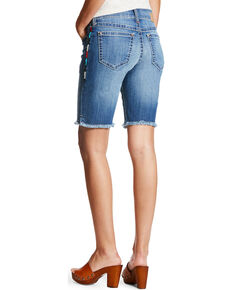 Ariat Women's Multi Side Stitch Bermuda Shorts, Indigo, hi-res