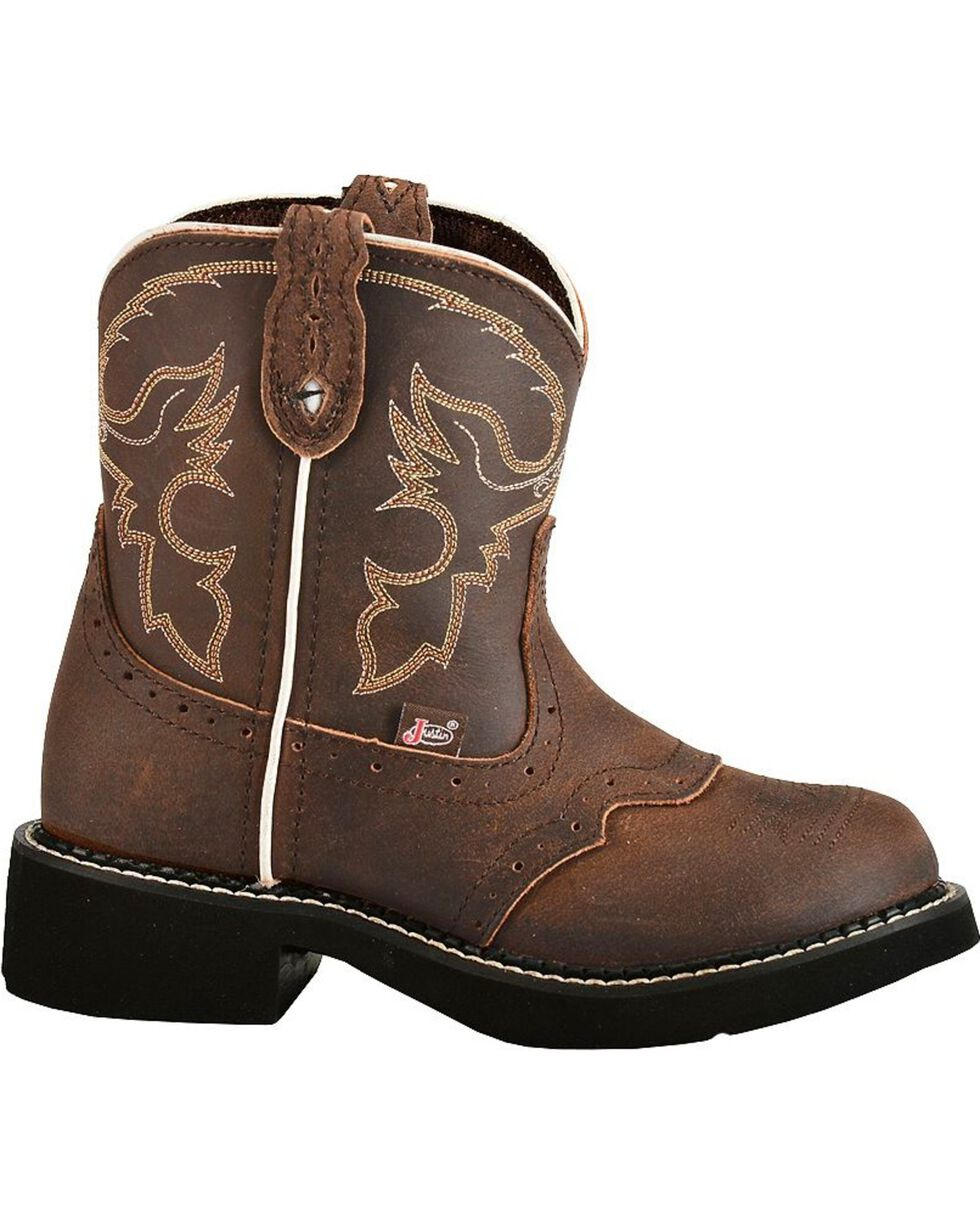 Justin Children's Gypsy Cowgirl Western Boots, Aged Bark, hi-res