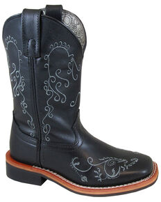 d5dc27b435a8 Smoky Mountain Girls Marilyn Western Boots - Square Toe, Black, hi-res