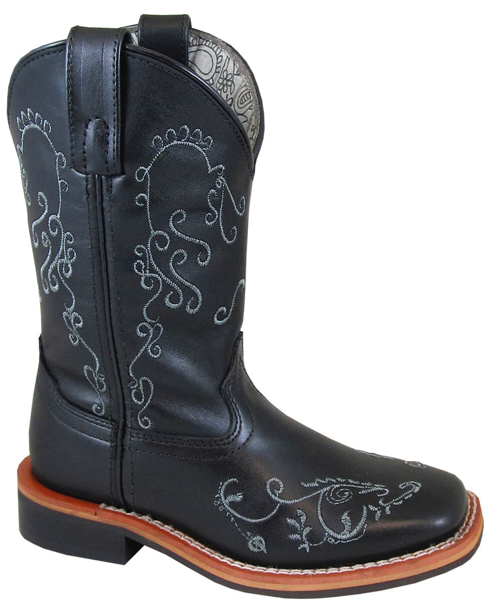 Smoky Mountain Girls' Marilyn Western Boots - Square Toe, Black, hi-res