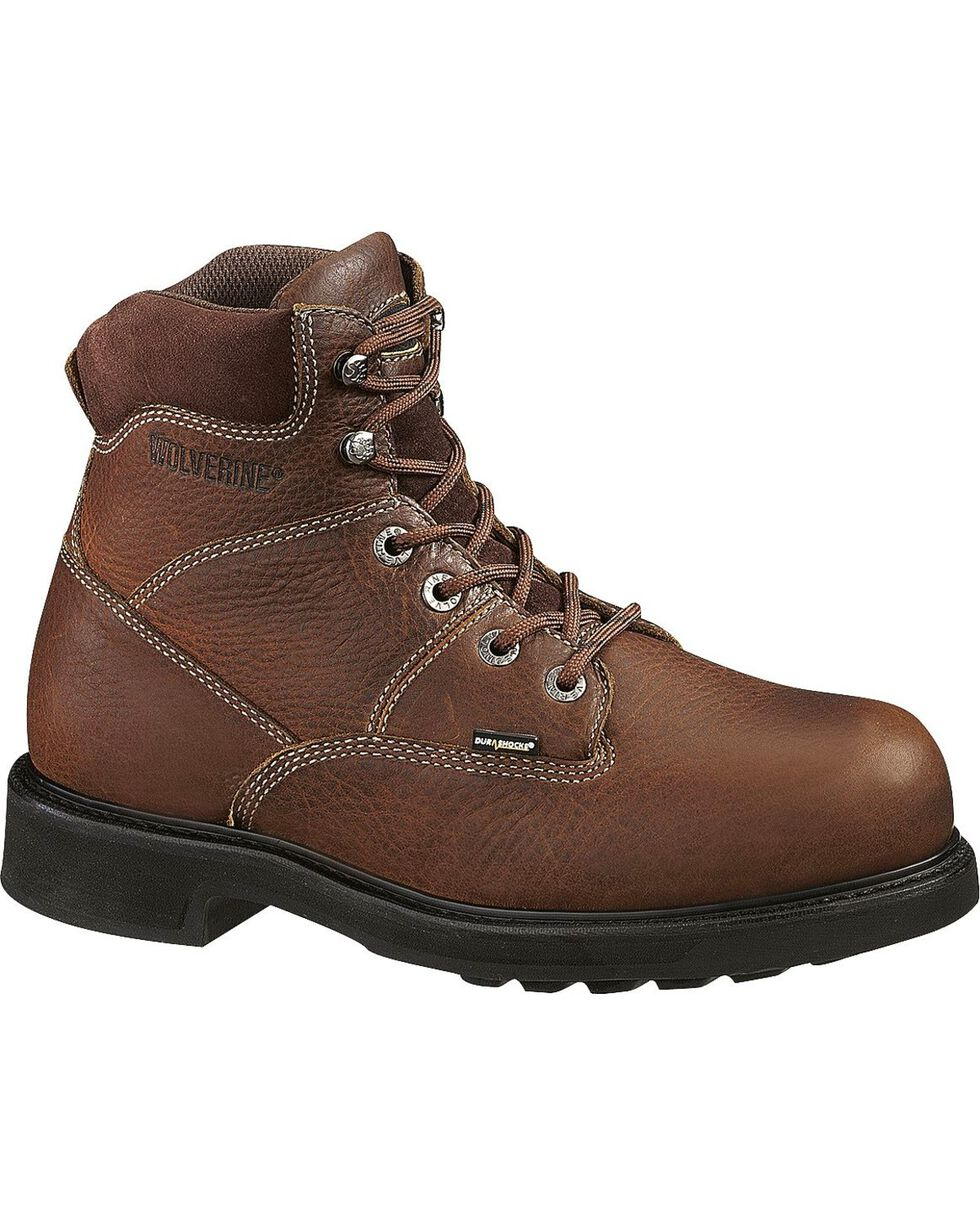 Wolverine Men's Tremor DuraShocks® Slip Resistant Work Boots, Brown, hi-res