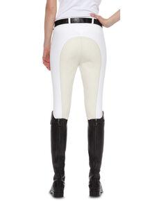 Ariat Women's Olympia Zip-Front Regular Rise Full Seat Breeches, White, hi-res