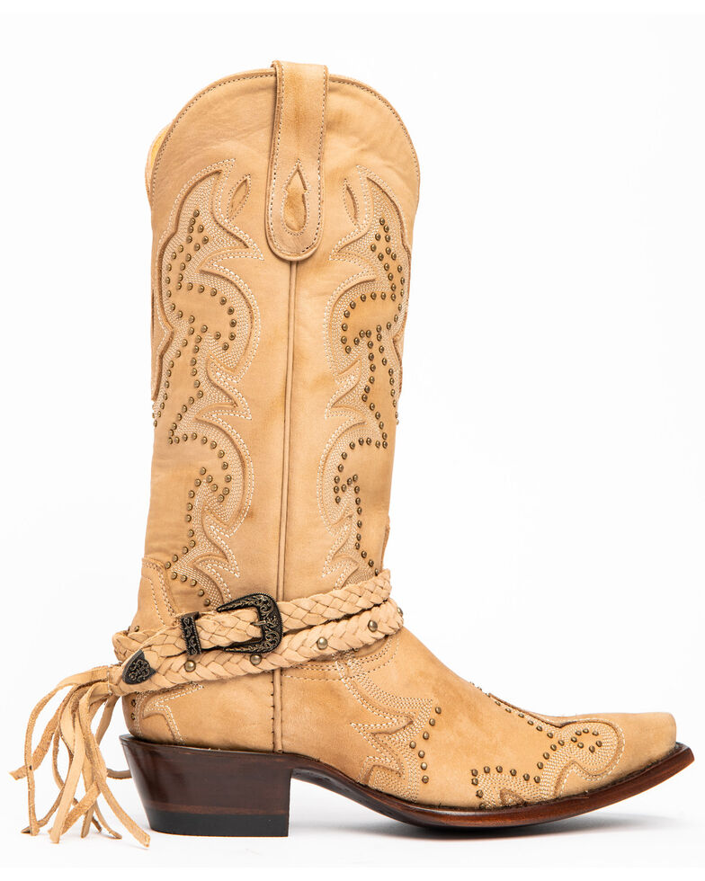 Idyllwind Women's Ivory Barfly Western Boots - Snip Toe, Ivory, hi-res