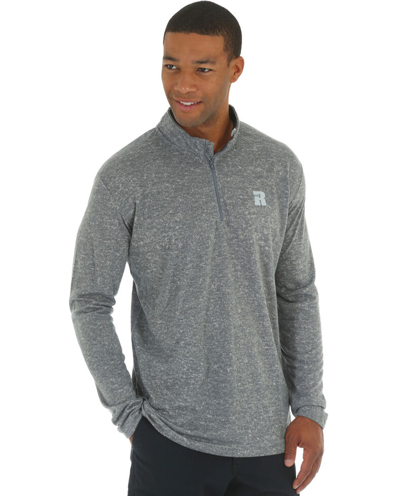 Wrangler Riggs Men's Olive Workwear 1/4 Zip Pullover , Heather Grey, hi-res