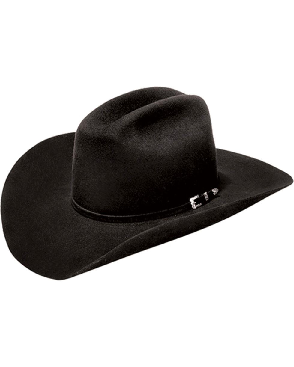 Master Hatters of Texas Denton 3X Wool Hat, Black, hi-res