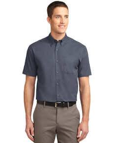 Port Authority Men's Solid Wrinkle Free Short Sleeve Work Shirt - Big , Steel, hi-res