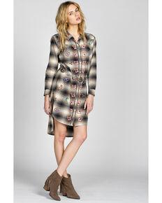 Miss Me Vintage Women's Beaded Shirt Dress, Olive, hi-res