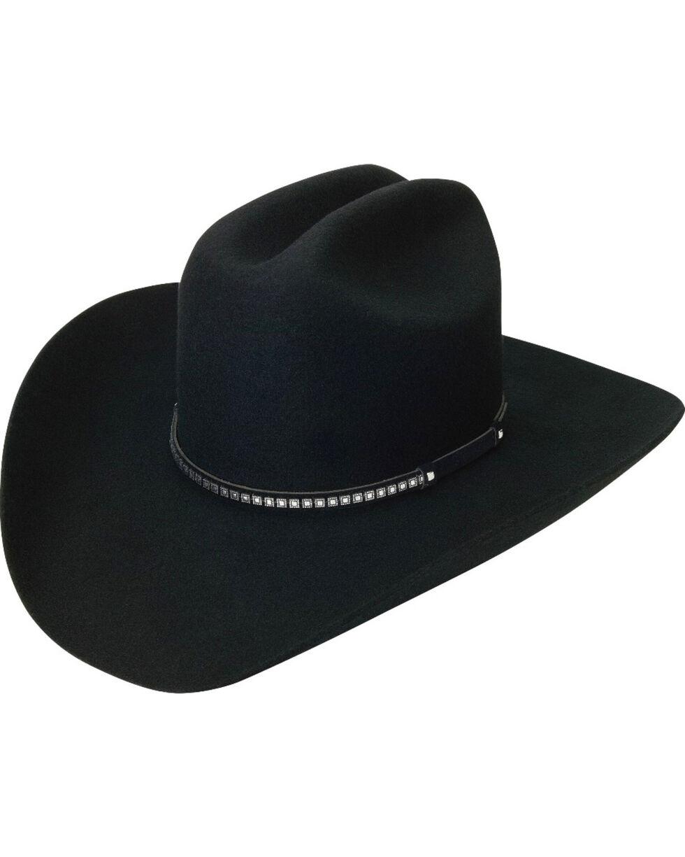 Silverado Men's Wool Felt Fancy Band Hat, Black, hi-res
