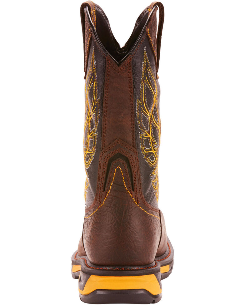 Ariat Men's Brown Workhog XT Firebird Boots - Carbon Toe, Brown, hi-res