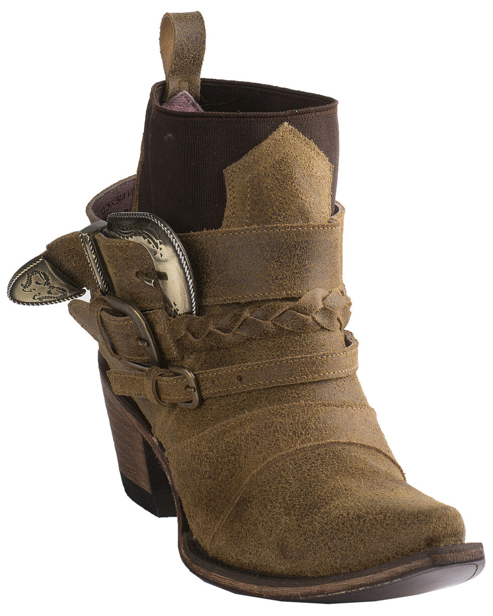 Junk Gypsy by Lane Women's HWY 237 Harness Booties - Snip Toe, Brown, hi-res