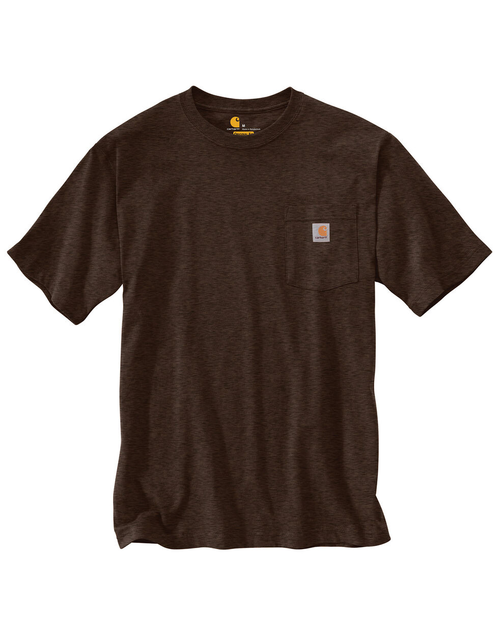 Carhartt Short Sleeve Pocket Work T-Shirt, Chocolate, hi-res