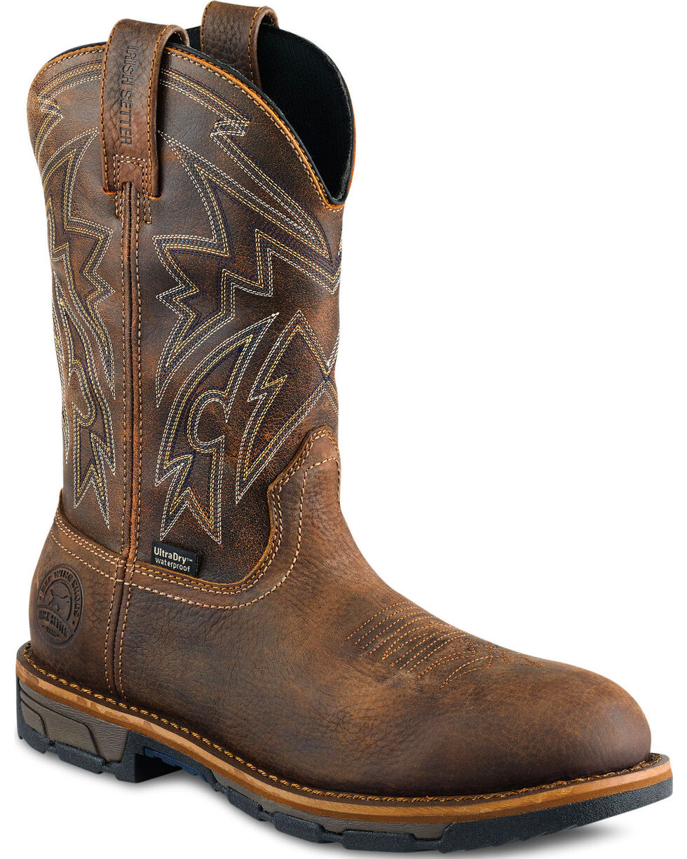 Irish Setter by Red Wing Shoes Men's Marshall EH Waterproof Work Boots - Round Toe  , Brown, hi-res