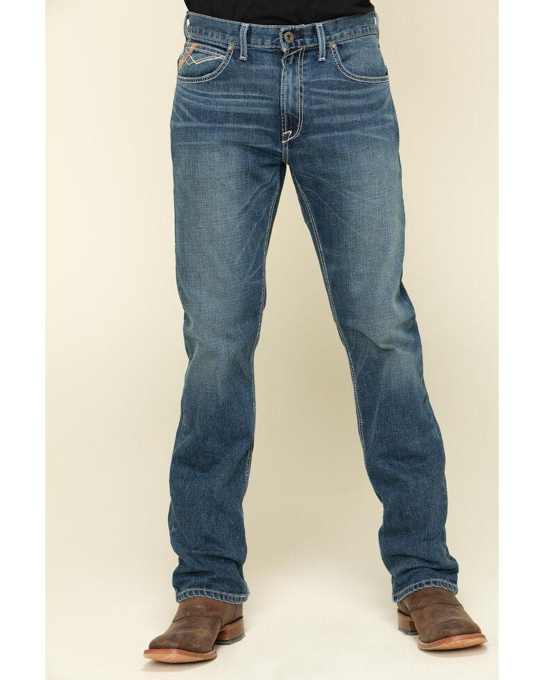Ariat Men's M1 Bodega Vintage Stretch Stackable Slim Straight Jeans , Blue, hi-res