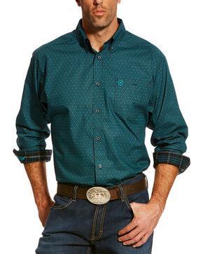 Ariat Men's Green Perseverance Printed Shirt , Black, hi-res