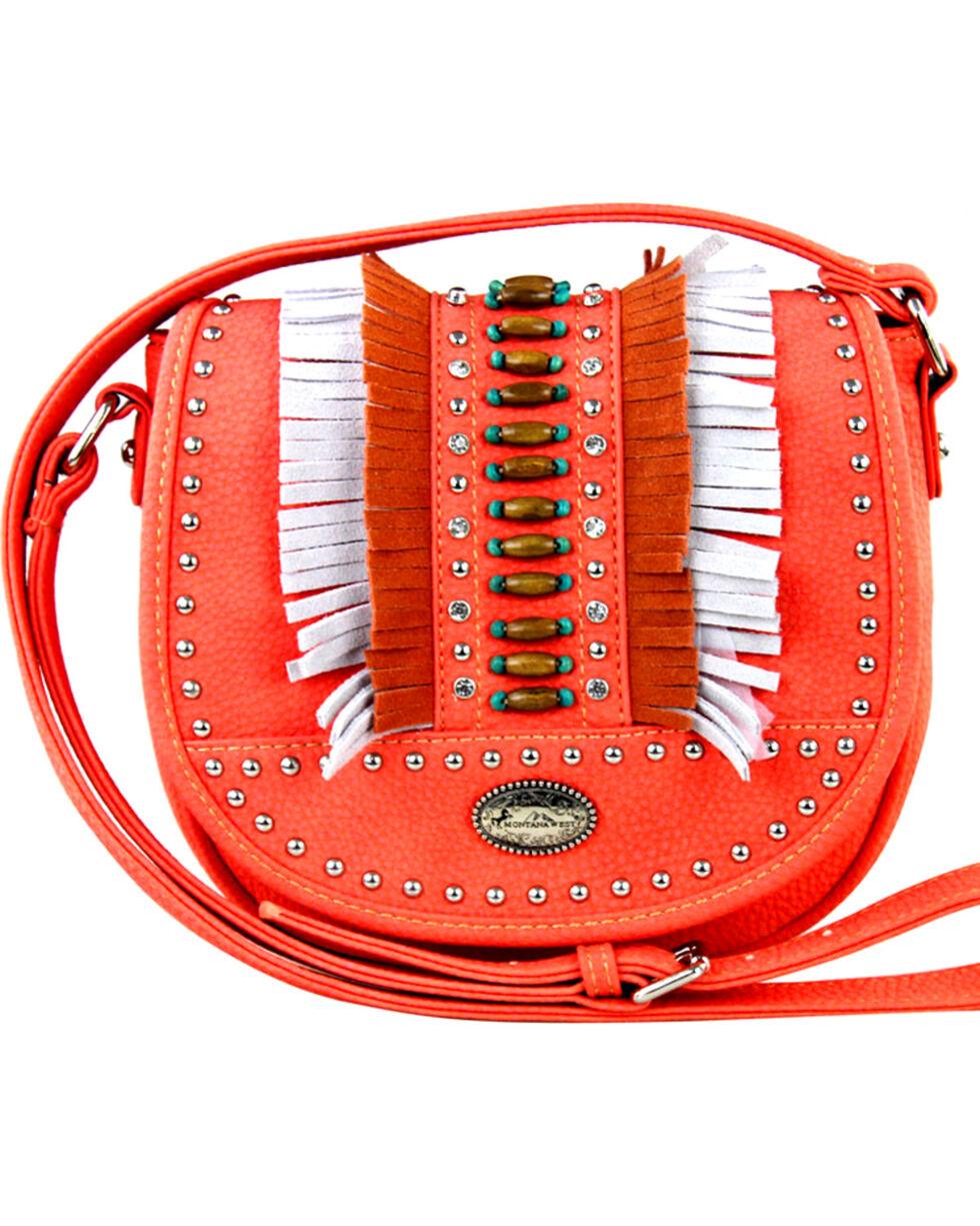 Montana West Women's Indian Bead Fringe Messenger Bag , , hi-res