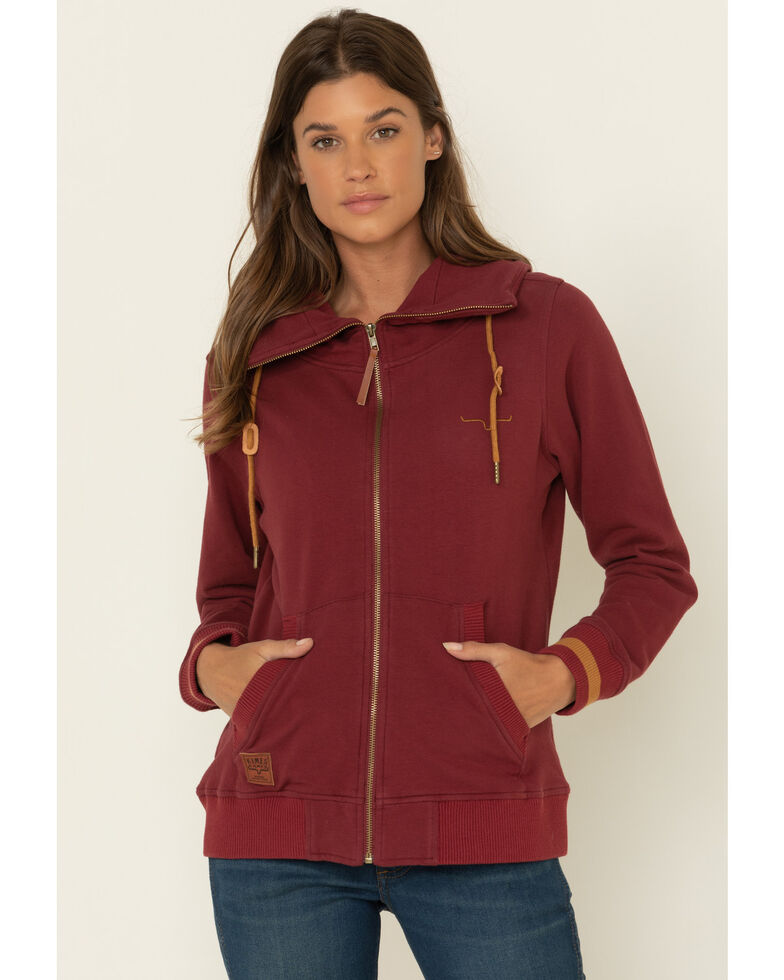 Kimes Ranch Women's Augier Zip Front Jacket , Wine, hi-res