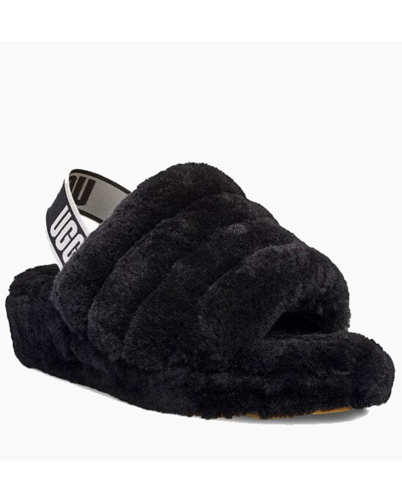 UGG Women's Fluff Yeah Slippers, Black, hi-res