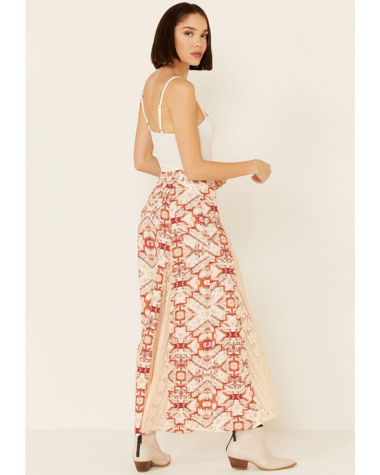Shyanne Women's Tile Print Maxi Skirt, Blush, hi-res