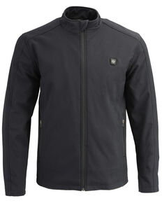 Milwaukee Leather Men's Zip Front Heated Soft Shell Jacket , Black, hi-res