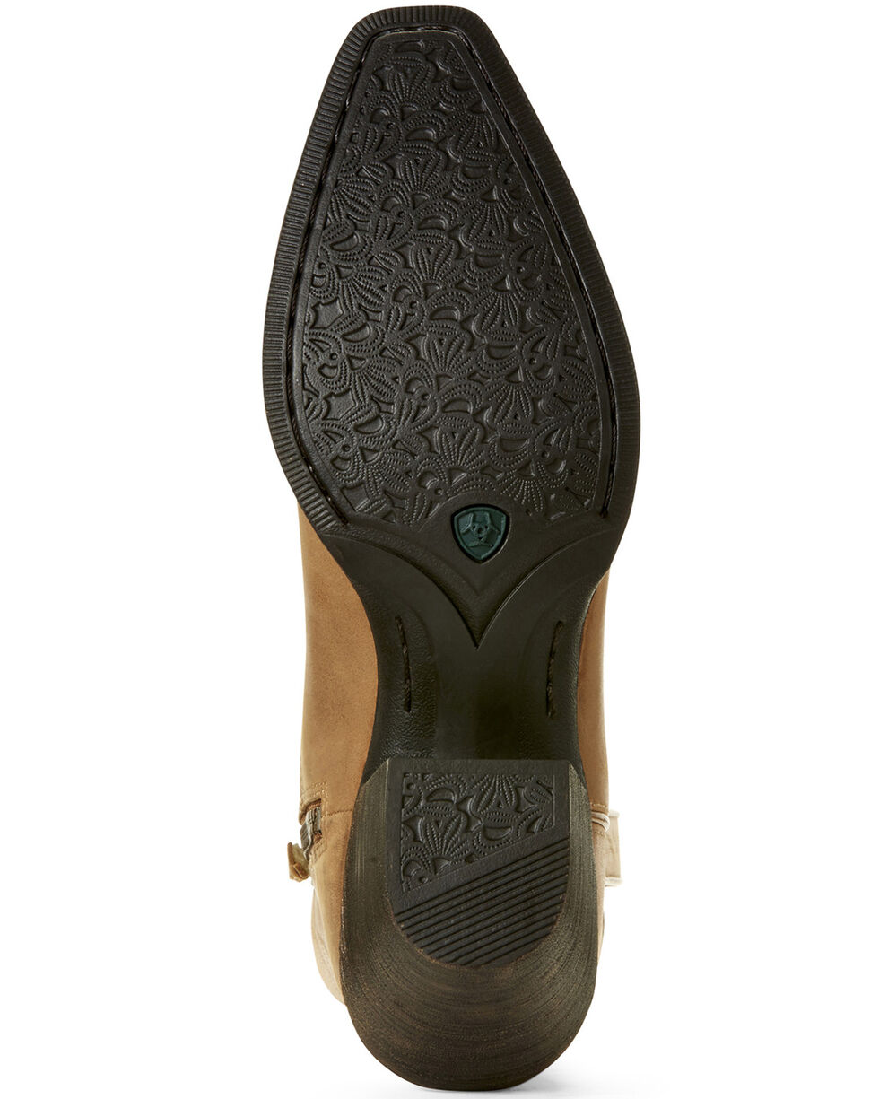 Ariat Women's Lovely Luggage Western Booties - Snip Toe, Brown, hi-res