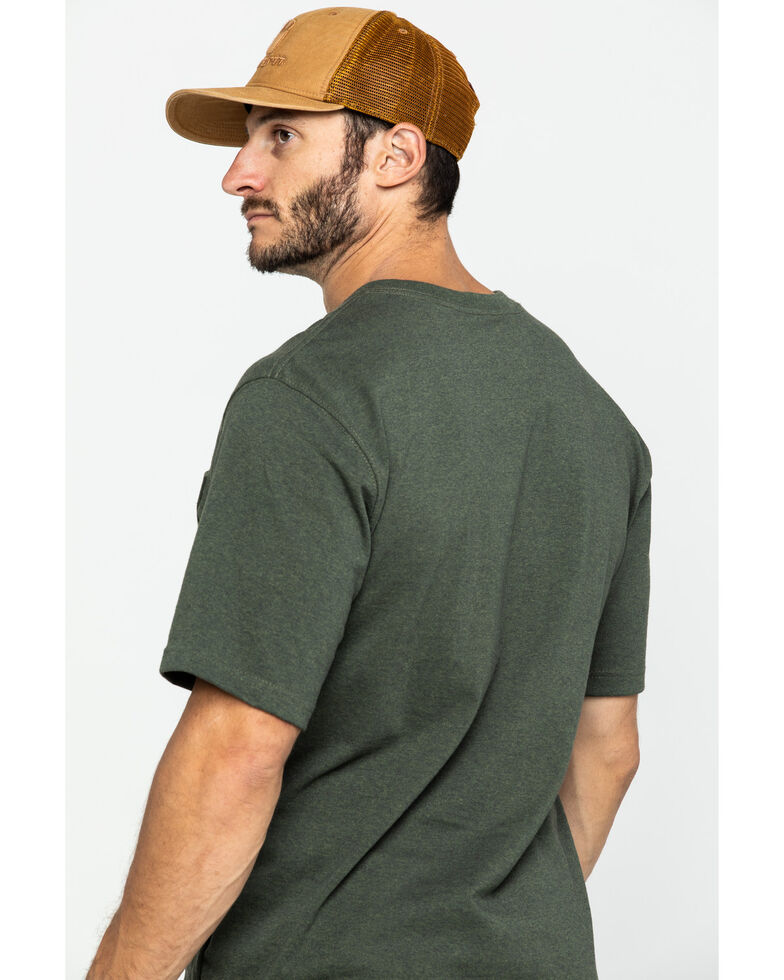 Carhartt Men's Peat Stripe Workwear Pocket Short-Sleeve Work T-Shirt, Olive, hi-res