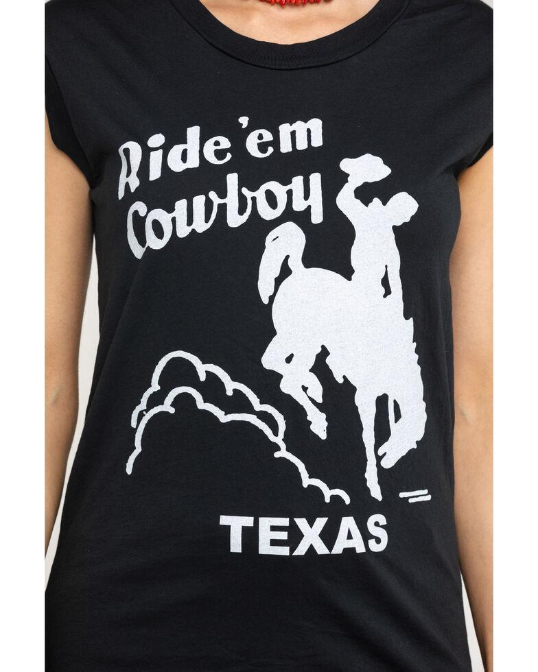Bandit Women's Charcoal Ride Em Cowboy Texas Muscle Tank Top, Charcoal, hi-res