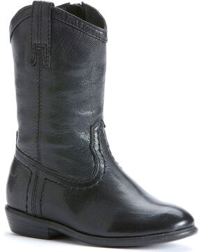Frye Girls' Carson Pull-on Toddler Boots, Black, hi-res