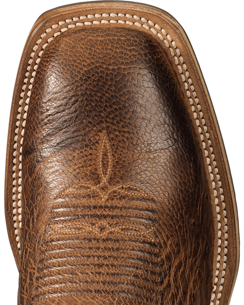 Lucchese Men's Handmade Light Brown Lance Smooth Ostrich Boots - Square Toe , Lt Brown, hi-res