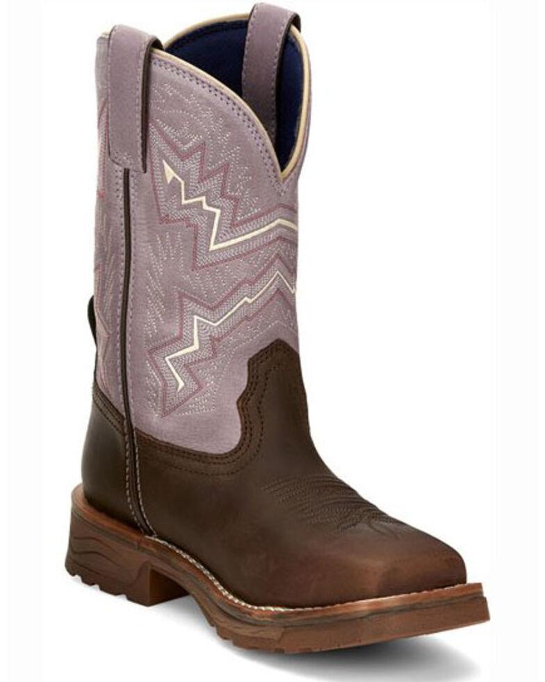 Tony Lama Women's Lumen Waterproof Western Work Boots - Composite Toe, Brown, hi-res