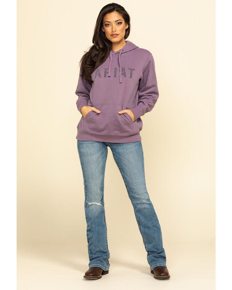 Ariat Women's Lavender Logo Hoodie Jacket, Lavender, hi-res