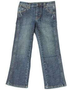Wrangler Retro Boys' Denim Dark Slim Straight Jeans , Blue, hi-res