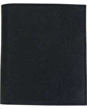Western Express Men's Tall Leather Bi-Fold Wallet, Black, hi-res