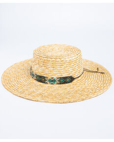 Physican Endorsed Women's Bossa Milan Fedora Straw Hat , Natural, hi-res