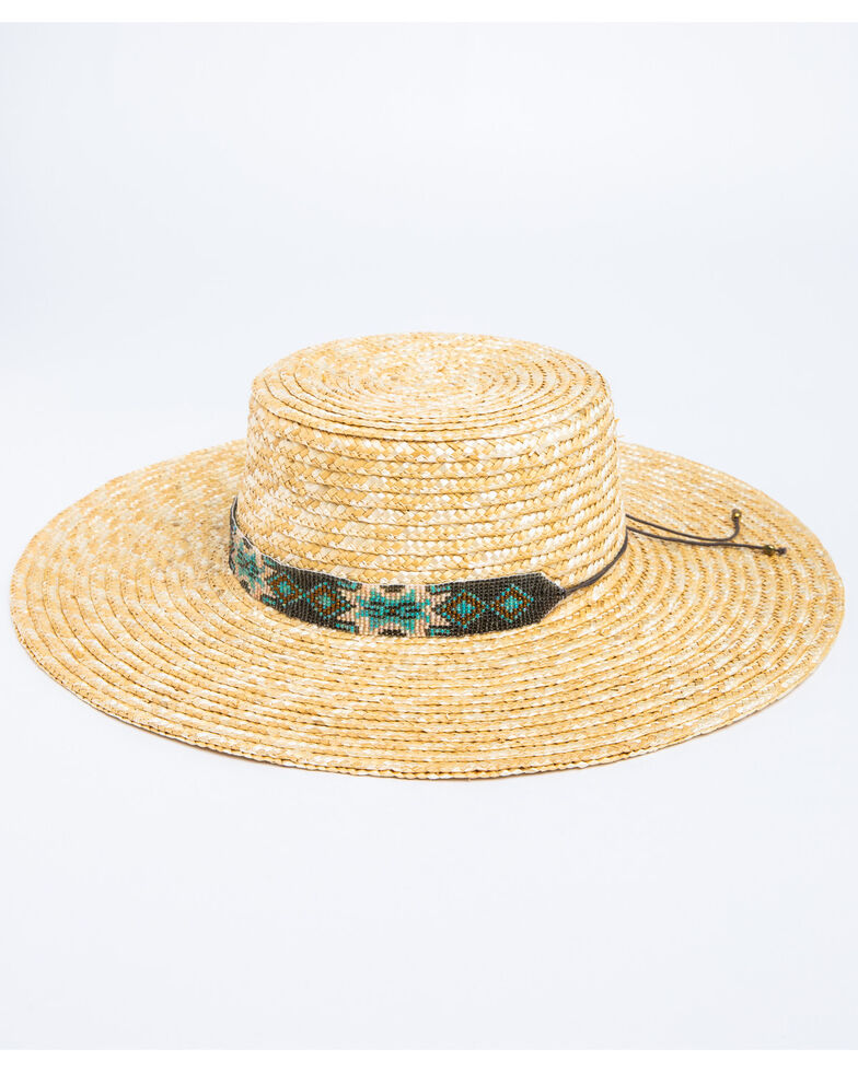 Nikki Beach Women's Bossa Milan Fedora Straw Hat , Natural, hi-res