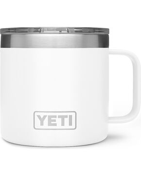 Yeti White 14oz. Rambler Mug , White, hi-res