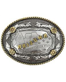 Cody James® Oval Dual-Tone Arizona Buckle, Multi, hi-res