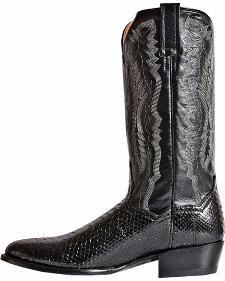 Dan Post Men's Omaha Python Cowboy Boots - Medium Toe, Black, hi-res