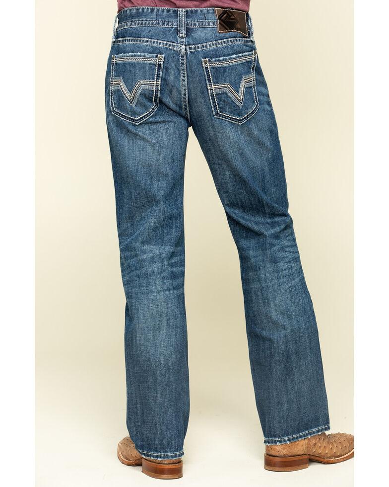 Rock & Roll Denim Men's Heavy V Stitch Double Barrel Vintage Relaxed Straight Jeans , Blue, hi-res