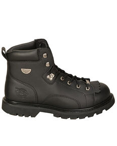 Milwaukee Motorcycle Clothing Co. Men's Night Rider Moto Boots - Round Toe, Black, hi-res