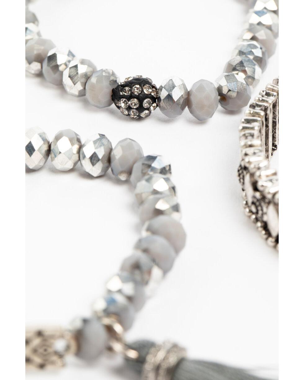 Shyanne Women's Slate Sparkle Grey Multi Beaded Bracelet Set, Slate, hi-res