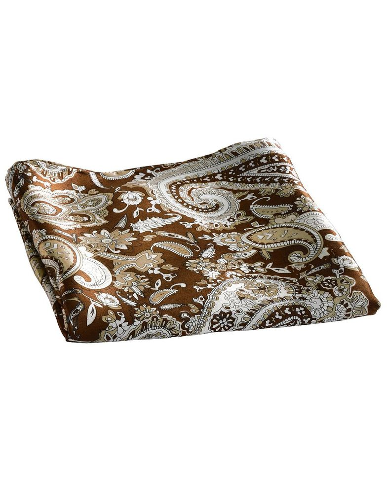 Brown Paisley Silk Wild Rag, Brown, hi-res