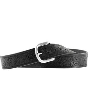 Ariat Holden Tooled Belt, Black, hi-res