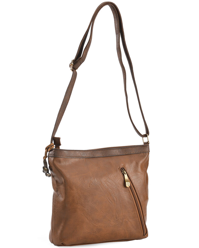 Justin Women's Caramel Stitch Concealed Carry Crossbody Bag, Brown, hi-res