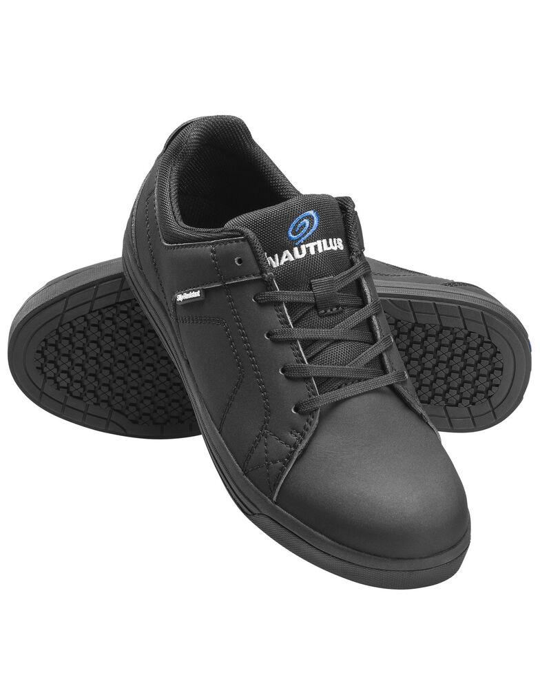 Nautilus Men's Black Work Shoes - Soft Toe, Black, hi-res