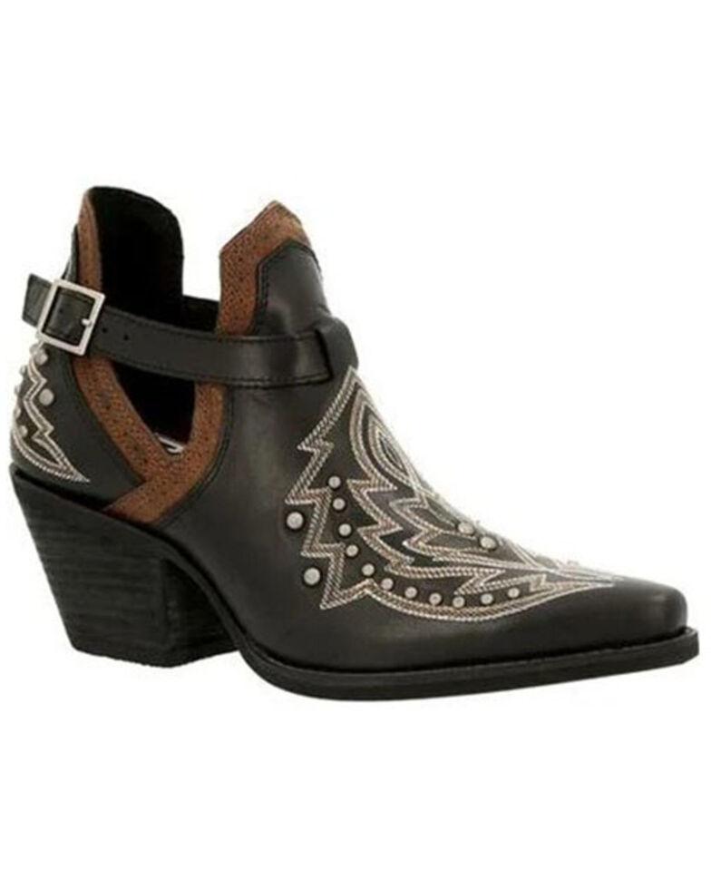Durango Women's Crush Studded Fashion Booties - Snip Toe, Black, hi-res