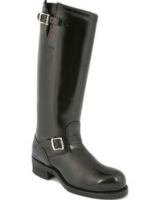Chippewa Biker Boots - Steel Toe, Black, hi-res