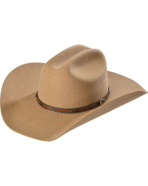 Justin Men's 2X Gallop Wool Cowboy Hat, Fawn, hi-res